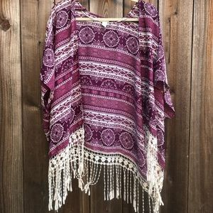 FOREVER 21-Purple/burgundy Shrug